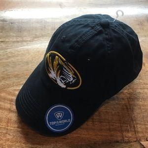 Missouri tigers black adjustable baseball hat NWT